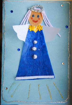 Second Grade Arts & crafts Activities: Angel Card