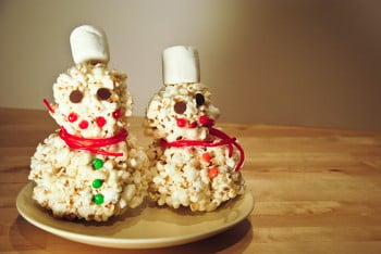 Kindergarten Seasons Activities: Popcorn Snowman