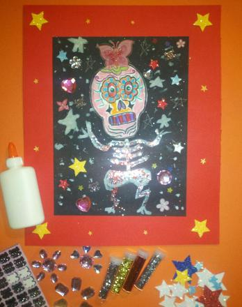 First Grade Holidays & Seasons Activities: Day of the Dead Artwork