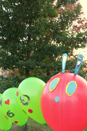 First Grade Arts & crafts Activities: Hungry Caterpillar Balloon