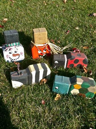 Third Grade Arts & Crafts Activities: Paving Block Creatures