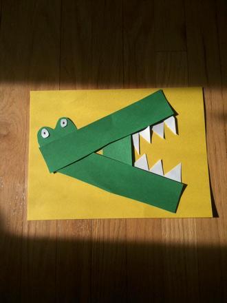 """Kindergarten Arts & Crafts Activities: """"A"""" is for Alligator"""
