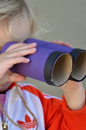 Kindergarten Arts & crafts Activities: Make a Set of Binoculars