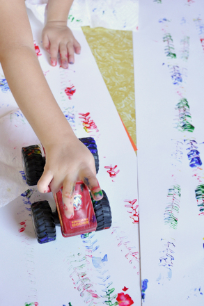 Preschool Arts & Crafts Activities: Make Truck Tracks!