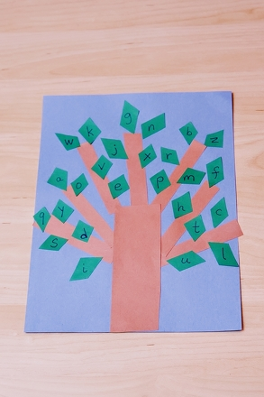 Preschool Reading & Writing Activities: Branch Out: Create an Alphabet Tree