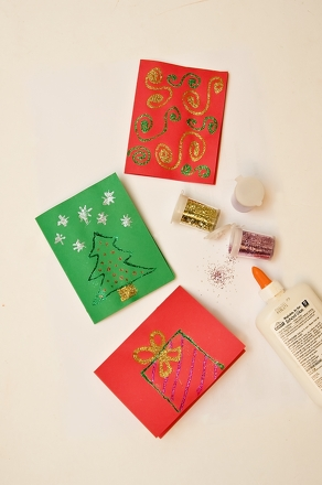 First Grade Arts & crafts Activities: Holiday Greeting Cards