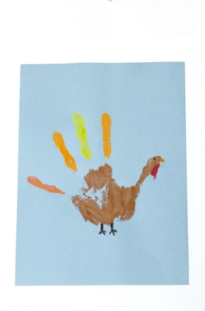 Preschool Holidays & Seasons Activities: Handprint Turkey