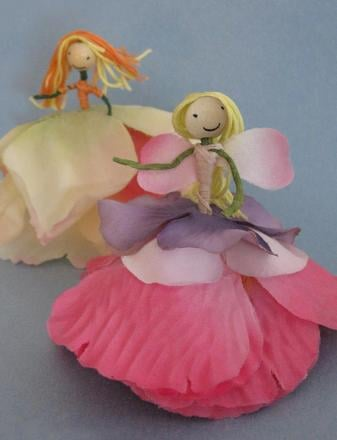 Second Grade Arts & crafts Activities: Flower Fairies