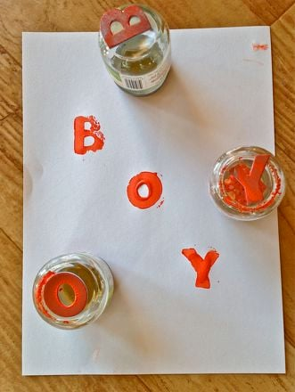 Preschool Reading & Writing Activities: Alphabet Stamps