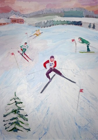 First Grade Holidays & Seasons Activities: Paint an Olympic Portrait
