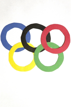 Third Grade Holidays & Seasons Activities: Make Your Own Olympic Rings
