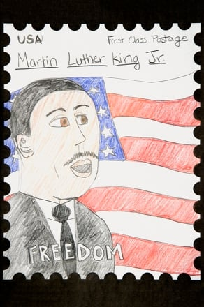 Fourth Grade Holidays Activities Martin Luther King Stamp