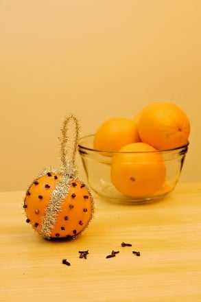 First Grade Arts & crafts Activities: Orange Pomander