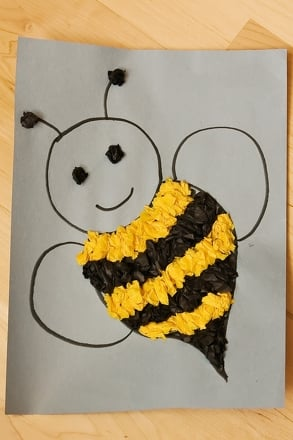 Preschool Arts & Crafts Activities: Bee Craft