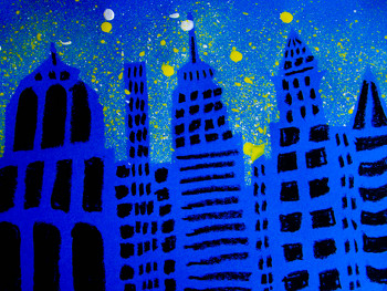 Third Grade Arts & crafts Activities: Skyline Craft
