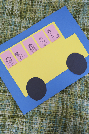 Kindergarten Holidays & Seasons Activities: Wheels on the Bus Collage