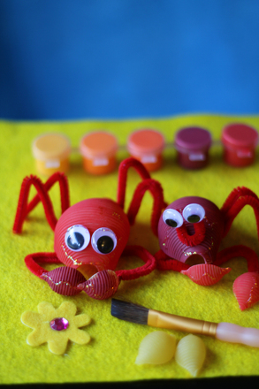 First Grade Science Activities: Crab Craft