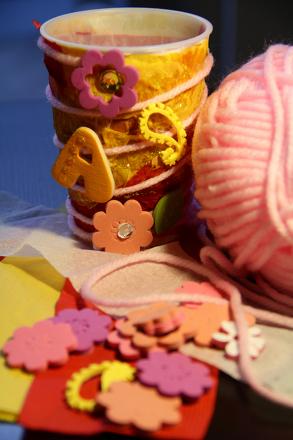 Kindergarten Arts & Crafts Activities: Chalk Caddy
