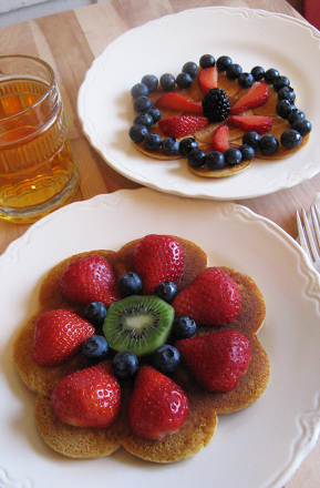 Third Grade Recipes Activities: Flower Pancakes