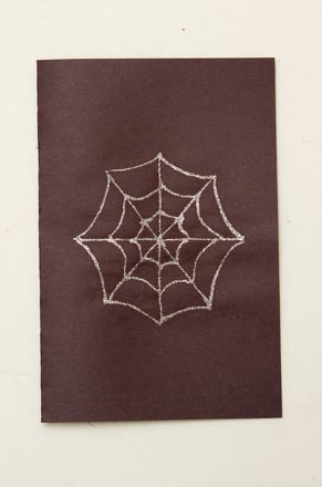 First Grade Arts & crafts Activities: Spiderweb Notecards