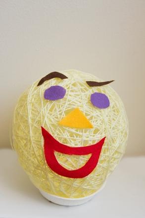 First Grade Arts & crafts Activities: Make a Yarn Head