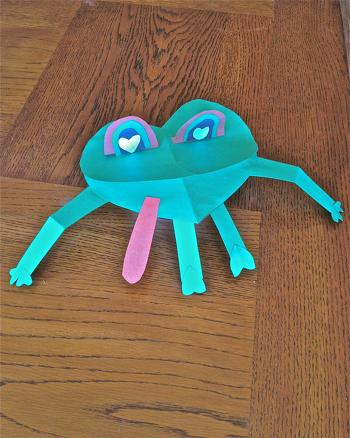Second Grade Arts & crafts Activities: Valentine's Day Frog