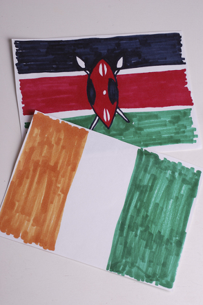 Second Grade Arts & crafts Activities: African Flag Banner