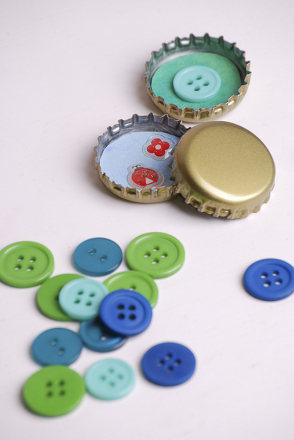 First Grade Arts & crafts Activities: Make Bottle Cap Magnets