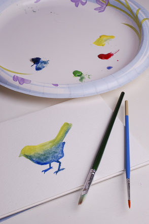 Preschool Holidays & Seasons Activities: Paint a Melted Snow Watercolor