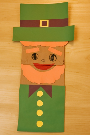 Kindergarten Holidays & Seasons Activities: Leprechaun Puppet
