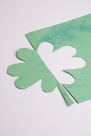 Third Grade Holidays & Seasons Activities: Make a Positive-Negative Space Shamrock