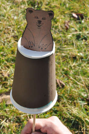 Preschool Arts & crafts Activities: Groundhog Craft