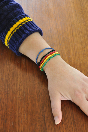 Third Grade Arts & Crafts Activities: Make Olympic Ring Bracelets