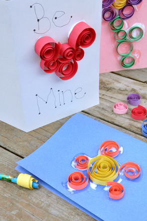 Second Grade Arts & Crafts Activities: Spiral Paper