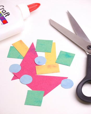 Kindergarten Math Activities: Make a 100 Shapes Mural