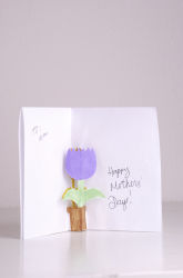 Second Grade Holidays & Seasons Activities: Make a Flower Pop-up Card for Mom