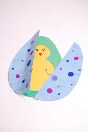 First Grade Holidays & Seasons Activities: Easter Pop-Up Card