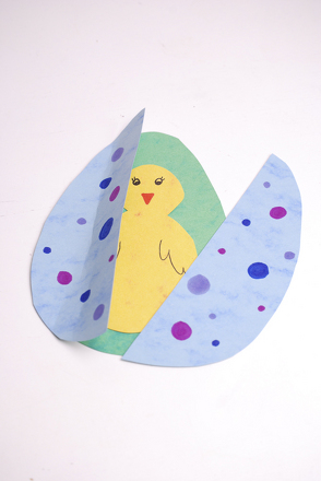 First Grade Seasons Activities: Easter Pop-Up Card