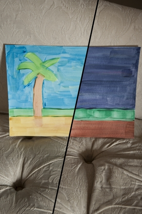 First Grade Arts & Crafts Activities: Create a Two-Sided Opposites Painting