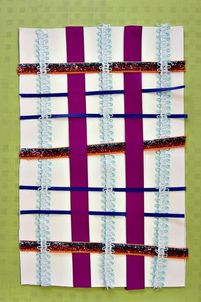 First Grade Math Activities: Ribbon Pattern Weave