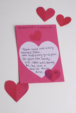 Third Grade Reading & Writing Activities: Valentine Limerick