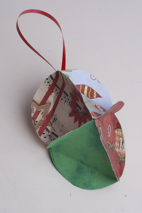 Fourth Grade Holidays & Seasons Activities: Create an 8-sided Bulb Ornament