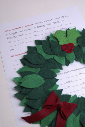 "Kindergarten Holidays & Seasons Activities: Create Your Own Lyrics to ""The Twelve Days of Christmas"""