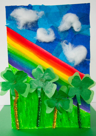 Third Grade Arts & crafts Activities: Clover Card