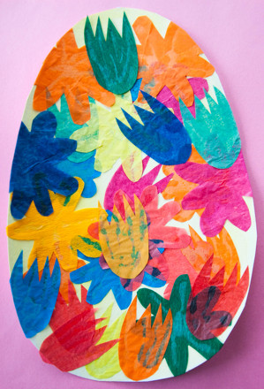 Kindergarten Holidays Activities: Easter Egg Collage