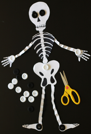 First Grade Holidays & Seasons Activities: Make an Accordion Skeleton