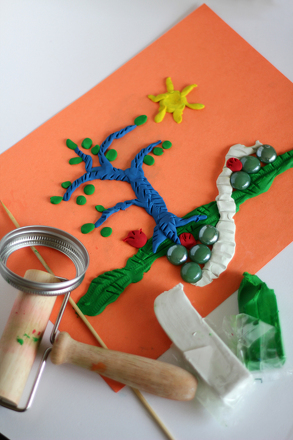 First Grade Arts & Crafts Activities: Create a Clay Garden Relief Sculpture