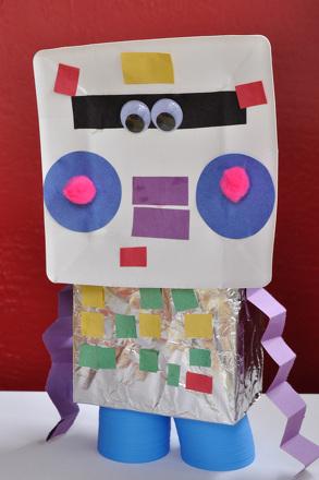 Preschool Arts & crafts Activities: Make a Shoe Box Robot