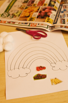 Preschool Math Activities: Create a Rainbow of Healthy Food