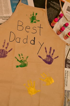 First Grade Holidays Activities: Father's Day Apron